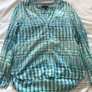 J.Crew Size 4 green and blue plaid button down